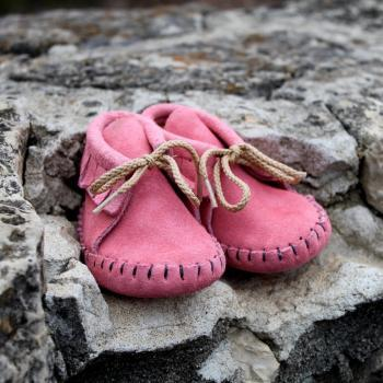 Infants Pink Moccasin